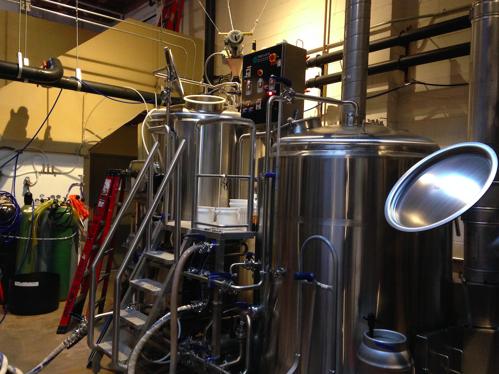 Where the magic happens. This is merely one section of the beer-making facility